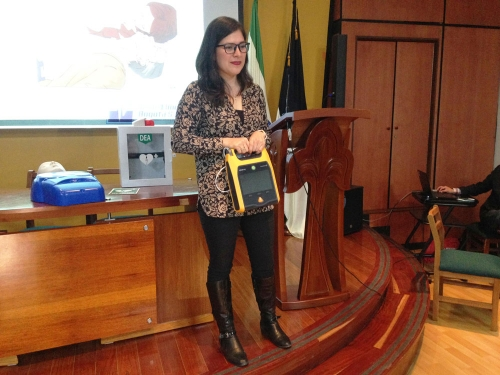 Tomasinos are trained in the use of automatic external defibrillators
