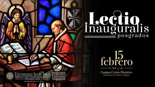 Lectio Inauguralis, graduate USTA Tunja will be this Friday