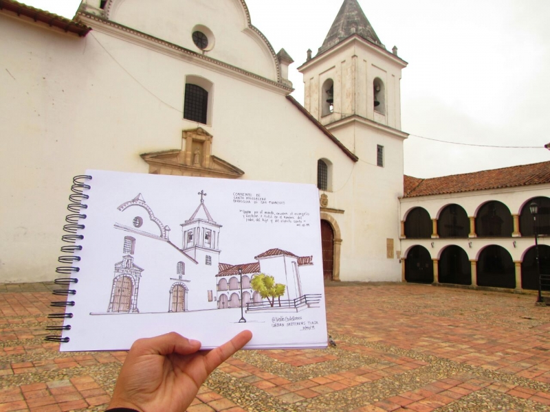 Urban sketches, a meeting to draw the city