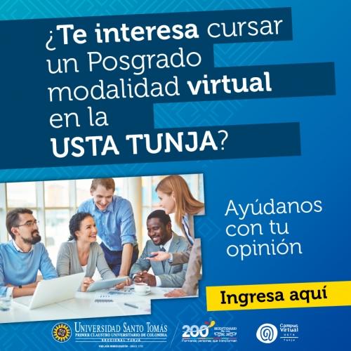 In Santo Tomás Tunja, you can do your postgraduate in virtual modality