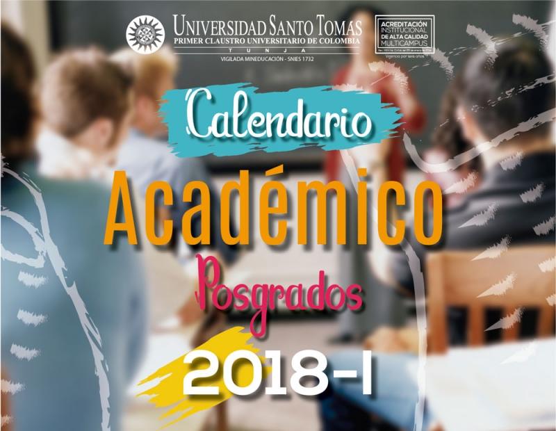 Академический календарь Аспирантура 2018 - 1