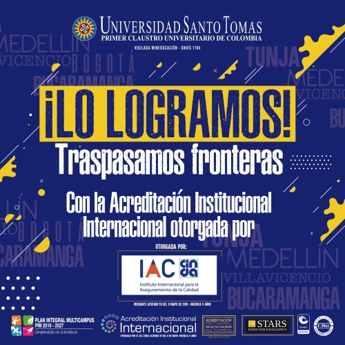 Santo Tomás University obtained the International Institutional Accreditation